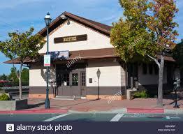 a classic american train station in martinez california stock