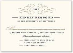 simple but wedding rsvp response cards vintage style