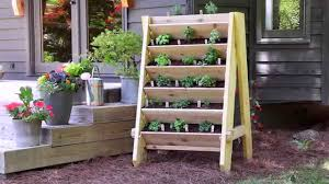 how to build a vertical herb planter youtube