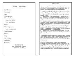 obituary program template