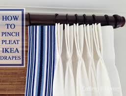 How To Make Curtains Hang Straight Diy Home Decorating Idea How To Pinch Pleat Ikea Curtains