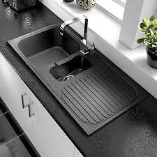 Wickes ROK Metallic   Bowl Kitchen Sink Black  Kitchen - Sink bowls for kitchen