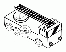 toy fire truck coloring page for kids transportation coloring