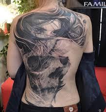 full back amazing face and skull tattoo golfian com