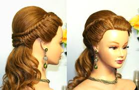 Hairstyle Easy Prom Hairstyle For Long Hair With Fishtail Braids Youtube