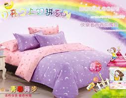 Glitter Bedding Sets Adult Kids Purple Pink Moon Star Dot Bedding Set King Queen Full
