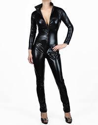 big and tall halloween costumes 5x amazon com nawtyfox black metallic wet look bodysuit