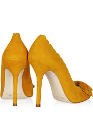 Yellow Mustard Color Mustard Yellow Heels Qu Heel