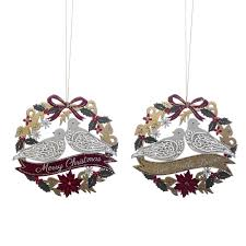 turtle doves wreath tree decoration assorted from national trust