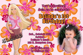 barbie birthday invitations wblqual com