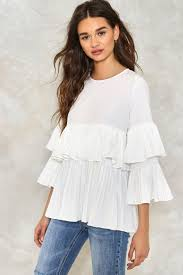 ruffle blouse you come pleat me ruffle blouse shop clothes at gal