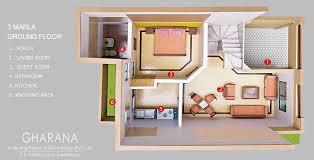 3d home design 5 marla floor plan marla ground floor plan image modern house map design d