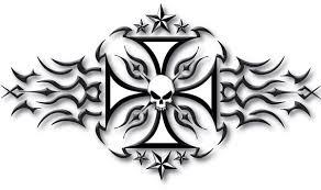 tribal maltese cross design