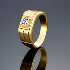wholesale gold rings images Megrezen engagement ring stone men cubic zirconia wedding ring jpg