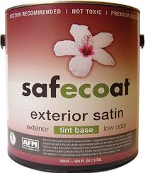 afm safecoat all purpose exterior satin paint non toxic