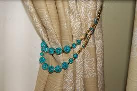Diy Curtain Tiebacks Diy Beaded Curtain Tie Backs Gopelling Net