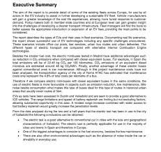 doc 815768 executive summary format for project report u2013 sample