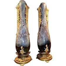 Large Ceramic Vases Art Nouveau Pr Ceramic Vases By Paul Louchet From Aliceaantiques