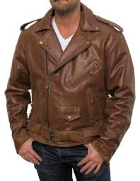 motorcycle suit mens men u0027s retro brown buffalo hide classic leather motorcycle jacket