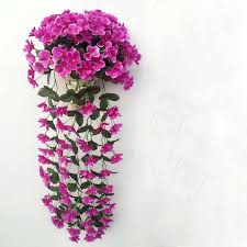Hanging Flowers Aliexpress Com Buy New Violet Artificial Flower Bouquet Rattan