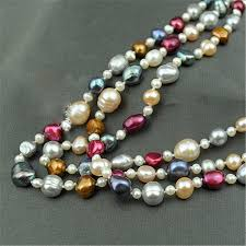 colour pearl necklace images Runzhuqiyuan 2017 100 natural freshwater pearl long necklace 4 jpg