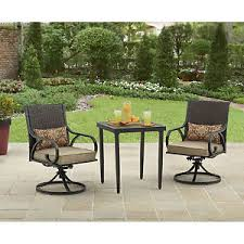 Patio Chair Swivel Rocker 3 Bistro Set Swivel Rocker Chairs With Cushions Outdoor