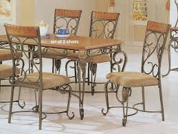 Rod Iron Dining Room Set Chair Design Ideas Wrought Iron Dining Chairs With Wheels Regard