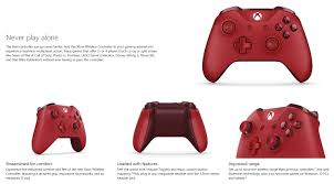 microsoft xbox one controller for windows red wl3 00029 ple