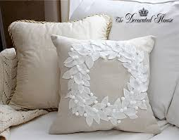 the decorated house pottery barn wreath pillow knock off