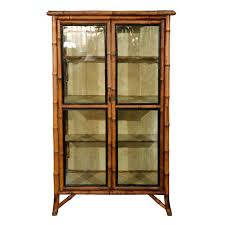 19th century english bamboo display cabinet modern cabinets