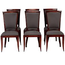 set of six french art deco dining chairs modern dining room