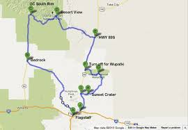 map usa route planner road trip planner for visiting the grand south