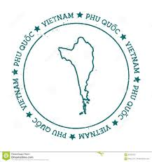 Circle Map Phu Quoc Vector Map Stock Vector Image 92623332