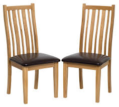 dining room chairs with leather seats oak dining chair with brown seat pad hallowood