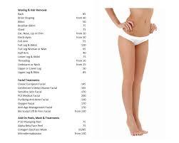 salon u0026 spa menu of services paul labrecque