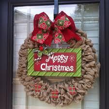 burlap christmas wreath christmas burlap wreath