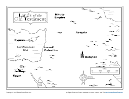 lands of the old testament bible map children u0027s bible activities