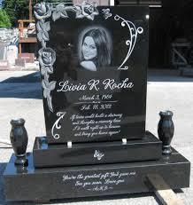 headstones grave markers custom grave marker diamond etch portrait custom grave