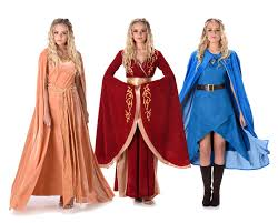 medieval halloween costume game of thrones ladies fancy dress medieval queen cersei daenerys