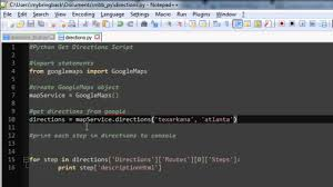 Map Directions Google Learn Python Programming Tutorial 24 Getting Directions Google