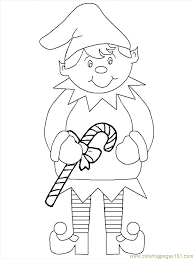 elf coloring page free christmas coloring pages