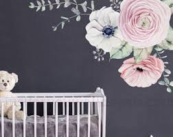 Decals Nursery Walls Floral Wall Decals Etsy
