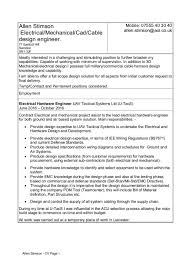 cable harness design engineer cover letter
