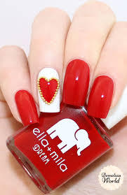 valentines day studded heart nail art video tutorial with ella