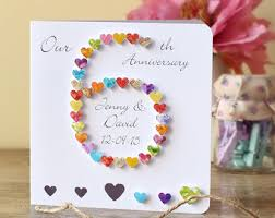 60th Anniversary Card Messages 5th Wedding Anniversary Card Personalised 5th Anniversary