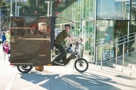 ups now using pedal powered trike to deliver freight in portland