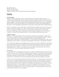 Technical Resume Objective Objective For Pharmacy Technician Resume