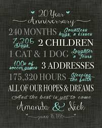 20 yr anniversary 20 yr wedding anniversary gift new best 25 20 year anniversary ideas