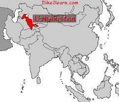 uzbekistan map in world uzbekistan gif