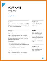Resume Sample Format Download Pdf by 4 Free Resume Template Download Pdf Packaging Clerks